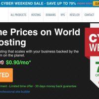 Hawk Host giảm giá lên tới 70% Cyber Monday