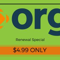 Gia hạn tên miền .ORG tại Name chỉ với 4.99$, chọn được nhiều năm